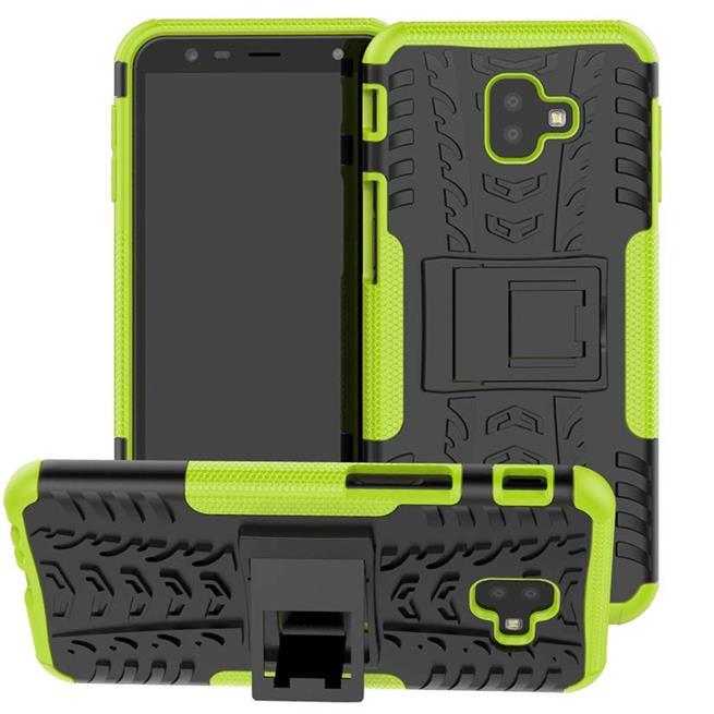Outdoor Case für Samsung Galaxy J4 Plus Hülle extrem robuste Schutzhülle Back Cover in Grün
