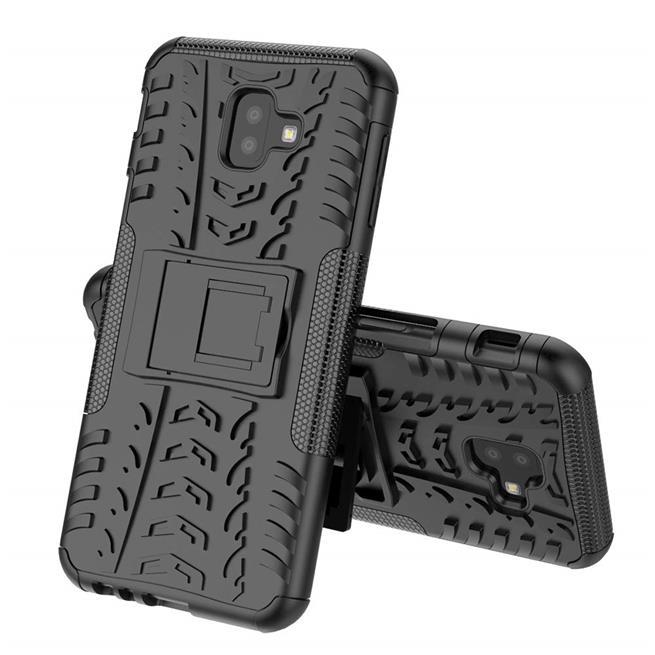 Outdoor Case für Samsung Galaxy J4 Plus Hülle extrem robuste Schutzhülle Back Cover in Schwarz