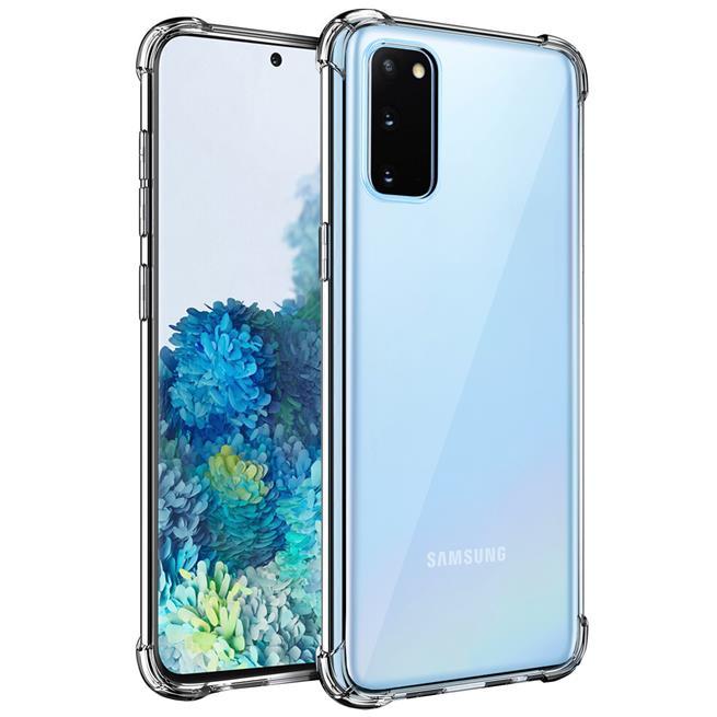 Anti Shock Hülle für Samsung Galaxy S20 Schutzhülle mit verstärkten Ecken Transparent Case