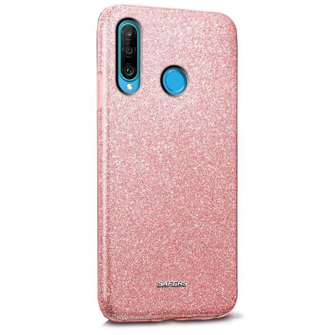 Handy Case für Huawei P30 Lite Hülle Glitzer Cover TPU Schutzhülle