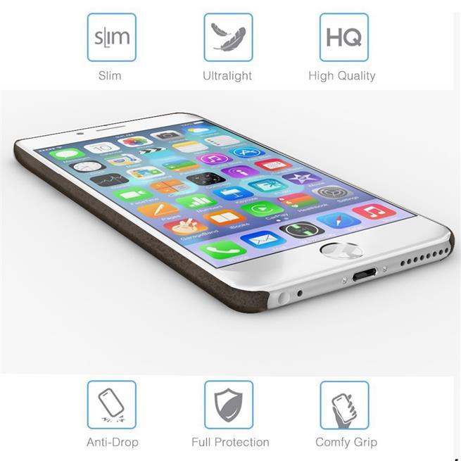 Unibody Case für Apple iPhone 6 6S Plus Handy Hülle Tasche mit PU Leder Backcover