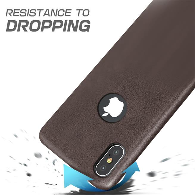 Unibody Case für Apple iPhone X / XS Handy Hülle Tasche mit PU Leder Backcover