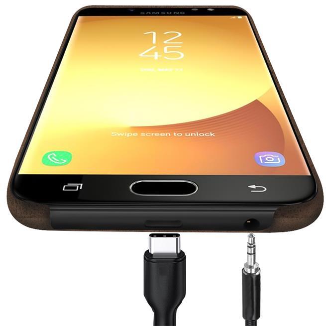 Handyhülle für Samsung Galaxy J7 2017 Backcover Kunstleder Case