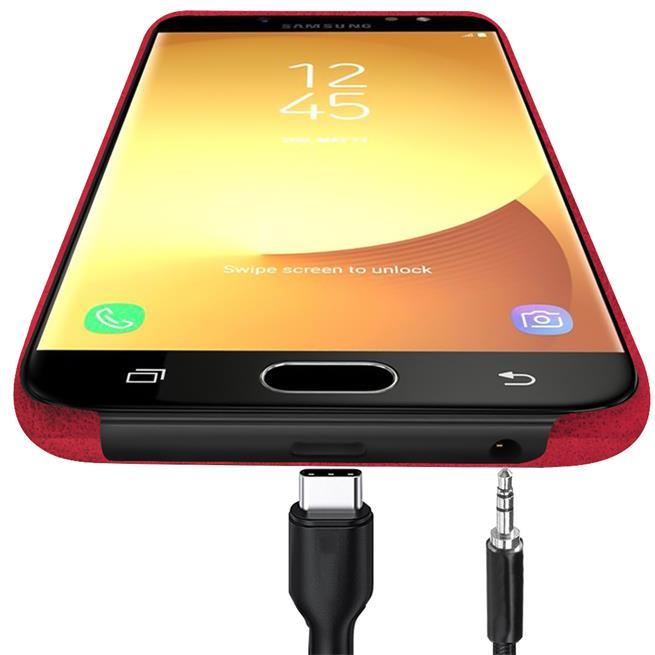 Unibody Case für Samsung Galaxy J3 2017 Handy Hülle Tasche mit PU Leder Backcover