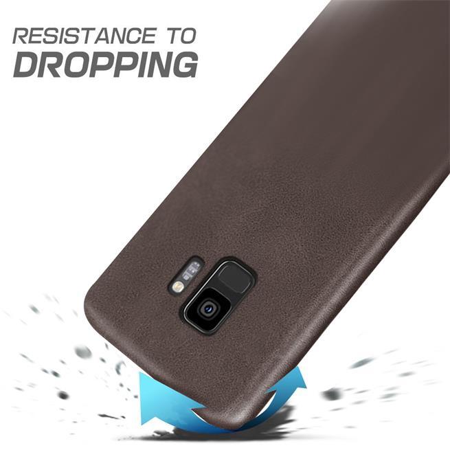 Unibody Case für Samsung Galaxy S9 Handy Hülle Tasche mit PU Leder Backcover