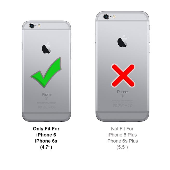 Schutzhülle für Apple iPhone 6 6S Hülle Transparent Slim Cover Clear Case