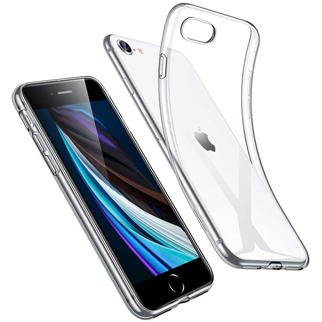 Schutzhülle für Apple iPhone 7 8 SE (2020) Hülle Transparent Slim Cover Clear Case
