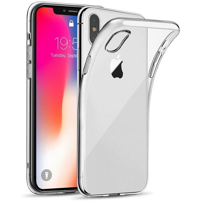 Schutzhülle für Apple iPhone X / XS Hülle Silikon Backcover Ultra-Clear Case im transparenten Design