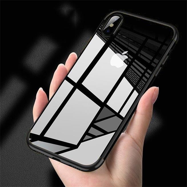 Transparente Silikonhülle für Apple iPhone XS Max Handy Schutz Case