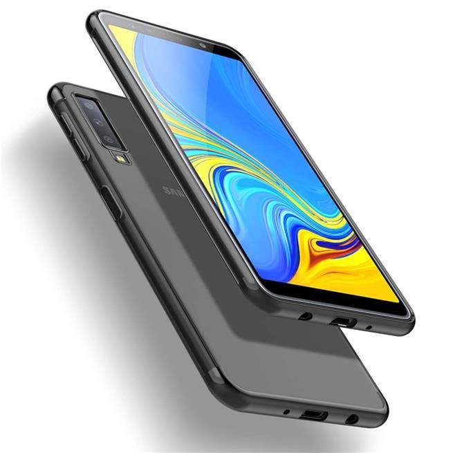 Transparente Silikonhülle für Samsung Galaxy A7 2018 Handy Schutz Case