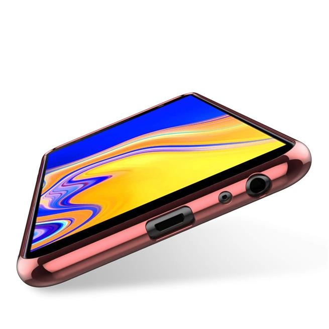 Transparente Silikonhülle für Samsung Galaxy J4 Plus Handy Schutz Case