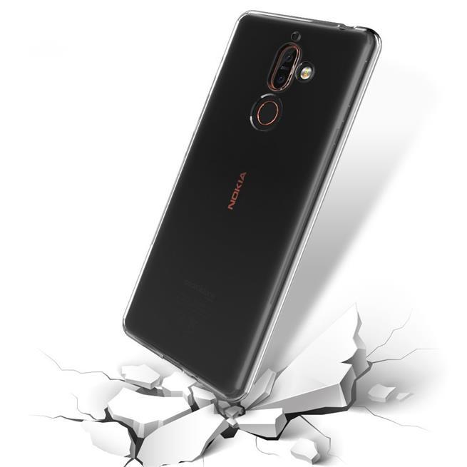 Schutzhülle für Nokia 7 Plus Hülle Silikon Backcover Ultra-Clear Case im transparenten Design