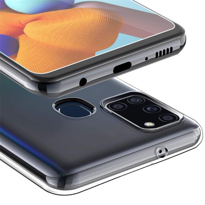 Schutzhülle für Samsung Galaxy A21s Hülle Transparent Slim Cover Clear Case