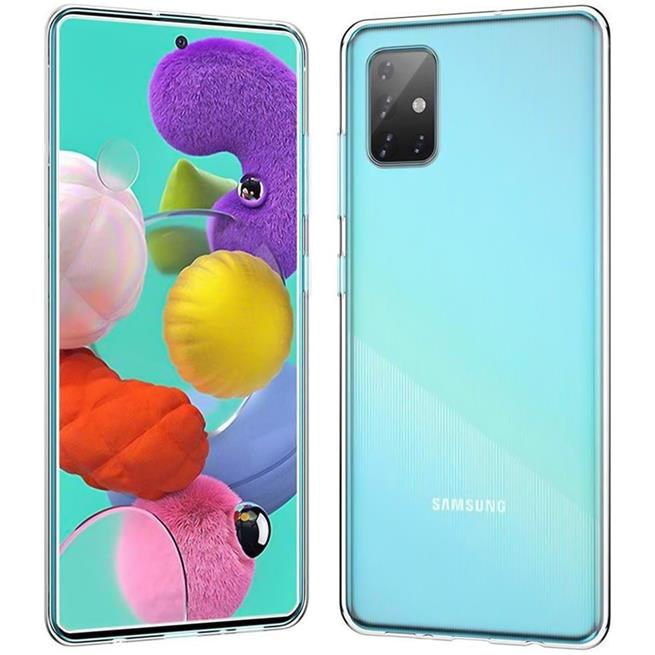 Schutzhülle für Samsung Galaxy A51 Hülle Transparent Slim Cover Clear Case