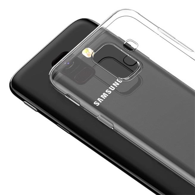 Transparente Schutzhülle für Samsung Galaxy A6 Plus Backcover Hülle