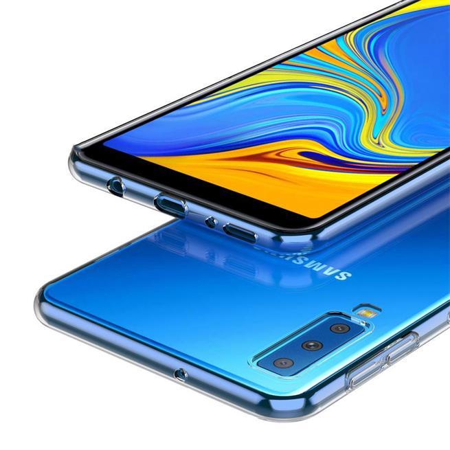 Transparente Schutzhülle für Samsung Galaxy A7 2018 Backcover Hülle