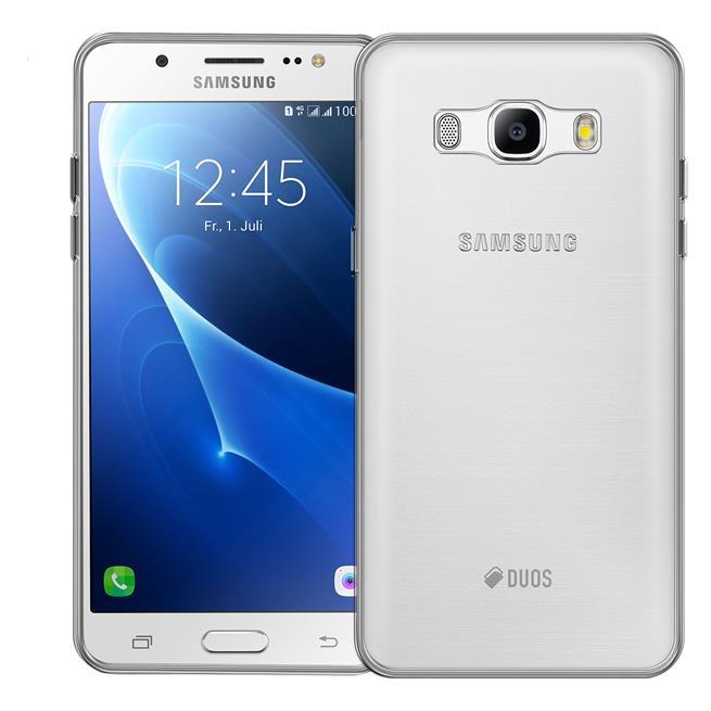 Schutzhülle für Samsung Galaxy J5 2016 Hülle Silikon Backcover Ultra-Clear Case im transparenten Design in Transparent