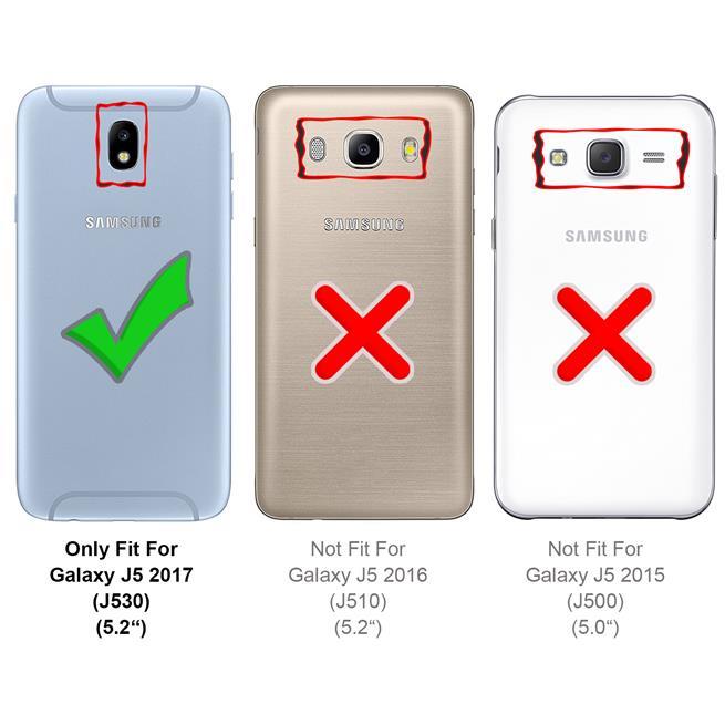 Schutzhülle für Samsung Galaxy J5 2017 Hülle Transparent Slim Cover Clear Case