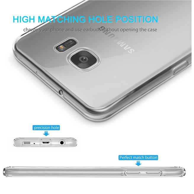 Schutzhülle für Samsung Galaxy S7 Hülle Transparent Slim Cover Clear Case