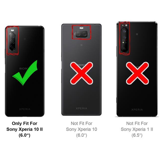 Schutzhülle für Sony Xperia 10 II Hülle Transparent Slim Cover Clear Case