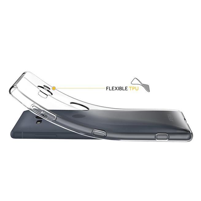Schutzhülle für Sony Xperia XZ2 Compact Hülle Silikon Backcover Ultra-Clear Case im transparenten Design