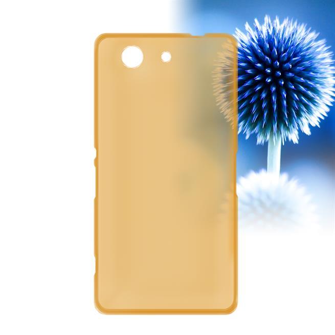 Schutzhülle für Sony Xperia Z3 Compact Hülle Silikon Backcover Ultra-Clear Case im transparenten Design in Gold