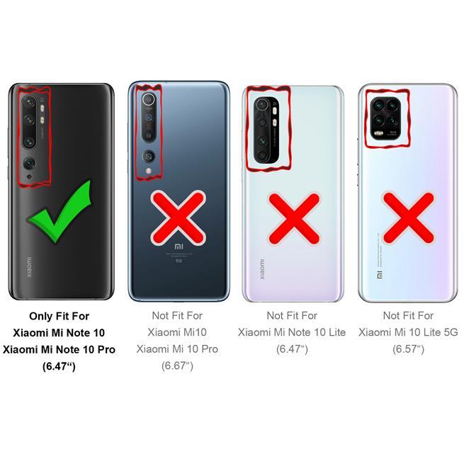 Schutzhülle für Xiaomi Mi Note 10 / 10 Pro Hülle Transparent Slim Cover Clear Case
