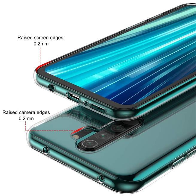 Schutzhülle für Xiaomi Redmi Note 8 Pro Hülle Transparent Slim Cover Clear Case