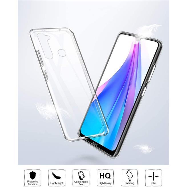 Schutzhülle für Xiaomi Redmi Note 8T Hülle Transparent Slim Cover Clear Case