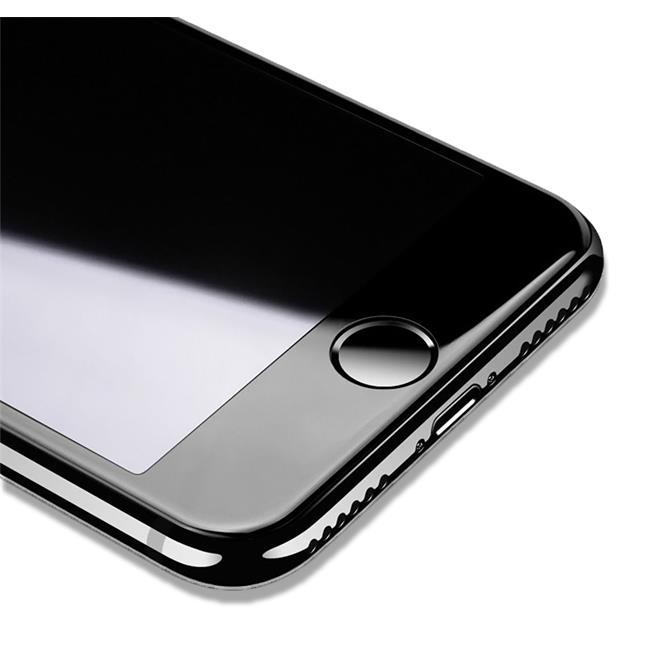 3D Curved Fullscreen Glasfolie für Apple iPhone 6 / 6S Schutzfolie gewölbt Glas Folie in Schwarz