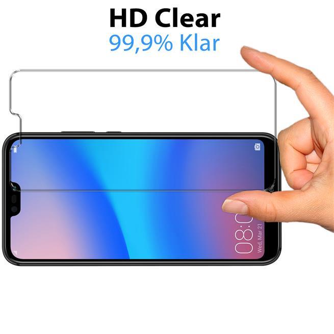 Panzer Glas Folie für Huawei P20 Lite Schutz Folie 9H Echtglas