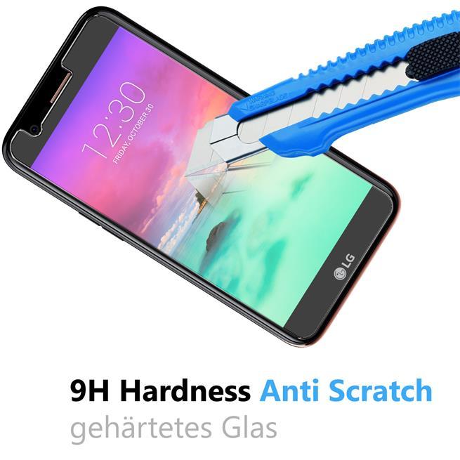 Glasfolie für LG K10 2017 Schutzfolie Panzer Scheibe Folie Display Schutzglas 9H