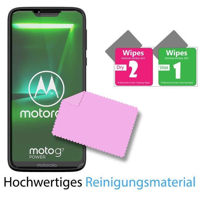 Glasfolie für Motorola Moto G7 Power Schutzfolie Panzer Scheibe Folie Display Schutzglas