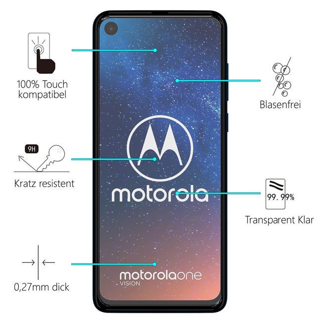 Panzerglas für Motorola One Zoom Glas Folie Displayschutz Schutzfolie
