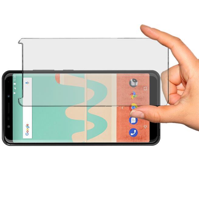 Panzer Glas Folie für Wiko View Z Handy Schutz Folie 9H Echtglas