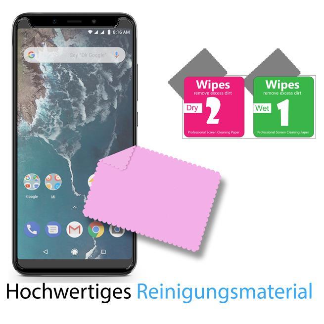 Panzerglas für Xiaomi Mi A2 Glasfolie Displayschutz Folie Glas Hartglas Anti Fingerprint