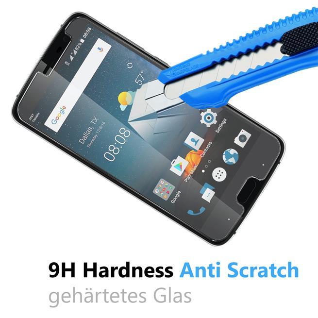 Panzer Glas Folie für ZTE V8 Mini Handy Schutz Folie 9H Echtglas