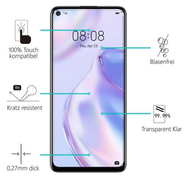 Panzerglas für Huawei P40 Lite 5G Glas Folie Displayschutz Schutzfolie
