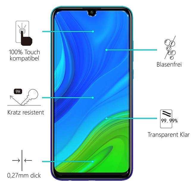 Panzerglas für Huawei P Smart 2020 Glas Folie Displayschutz Schutzfolie