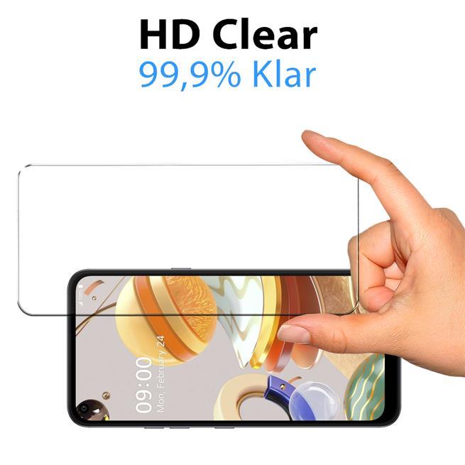 Panzerglas für LG K61 Glas Folie Displayschutz Schutzfolie