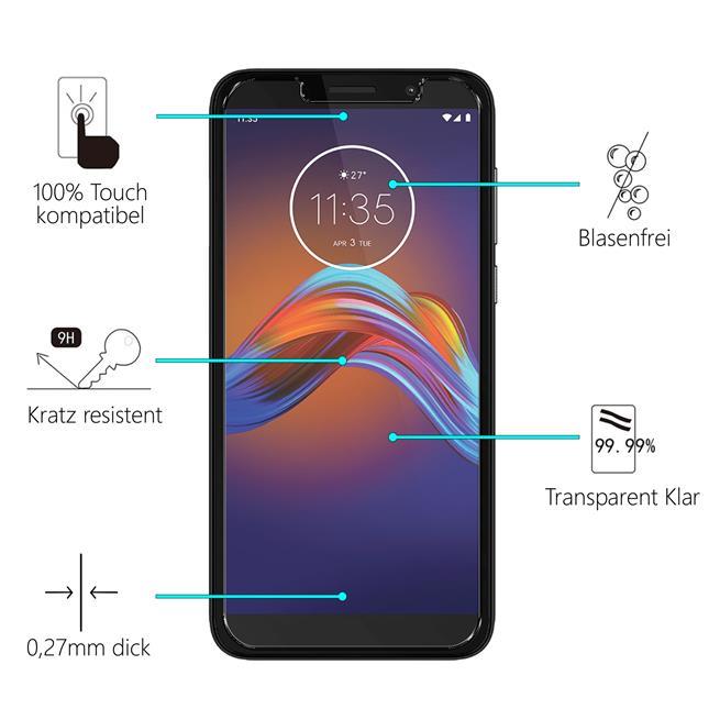 Panzerglas für Motorola Moto E6 Play Glas Folie Displayschutz Schutzfolie