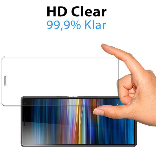 Panzerglas für Sony Xperia 8 Glas Folie Displayschutz Schutzfolie