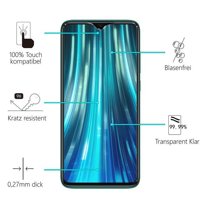 Panzerglas für Xiaomi Redmi Note 8 Glas Folie Displayschutz Schutzfolie
