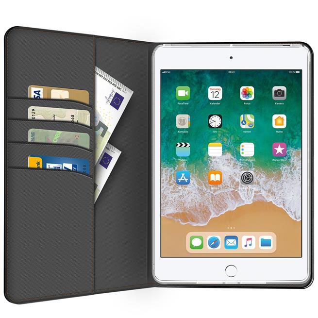 Klapphülle für Apple iPad 9.7 2017/2018 Hülle Tasche Textil Case Schutzhülle