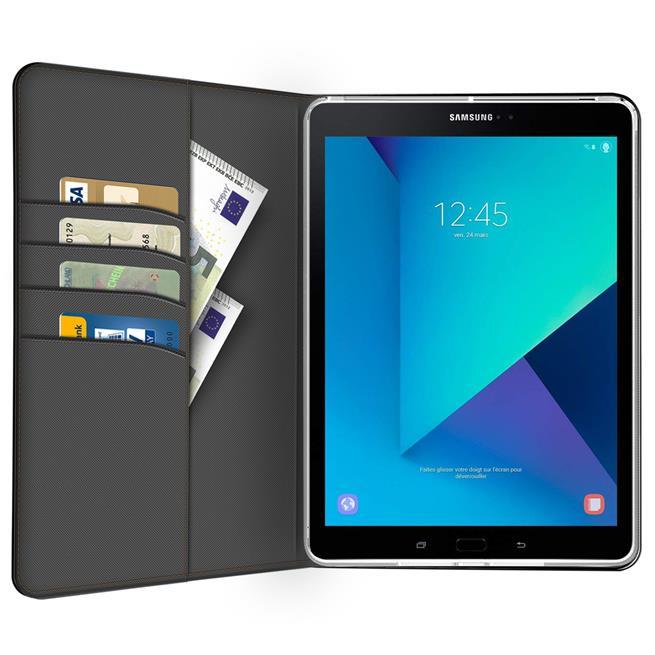 Klapphülle für Samsung Galaxy Tab S3 9.7 Hülle Tasche Textil Case Schutzhülle