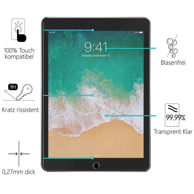 Panzerglas für Apple iPad Air Glasfolie 9H Schutzglas Panzer Folie