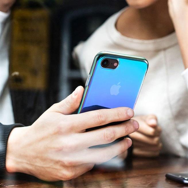 Farbverlauf Schutz Hülle für Samsung Galaxy A6 2018 Backcover Case