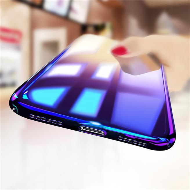 Farbverlauf Schutz Hülle für Apple iPhone XS Max Backcover Handy Case
