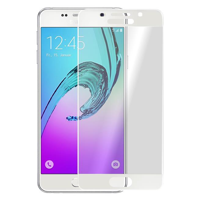 3D Curved Fullscreen Glasfolie für Samsung Galaxy A5 2016 Schutzfolie gewölbt Glas Folie in Weiss