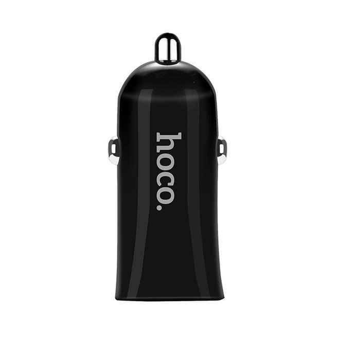 Hoco Dual 2x USB KFZ Ladegerät Z12 mit 2.4A Auto Zigarettenanzünder Stecker Adapter in Schwarz